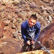Rock Climbing Photo: Eric working Black Mamba on TR self belay