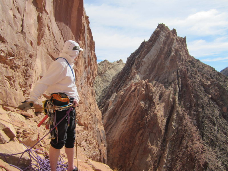 On the belay of P4