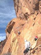 Rock Climbing Photo: Shingo starting P5