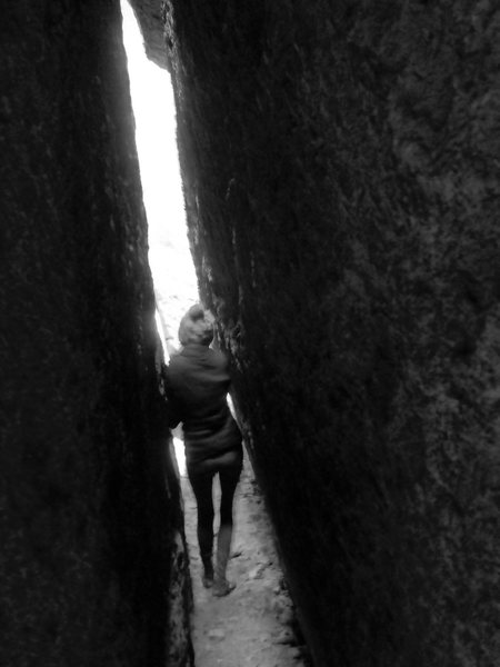 Rock Climbing Photo: one of the Catacombs more slender corridors...