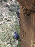 Rock Climbing Photo: Close up of the start of the 3rd Pitch of Excellen...