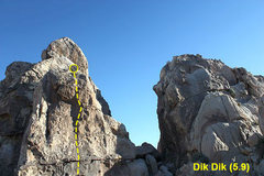 Rock Climbing Photo: Dik Dik (5.9), Joshua Tree NP