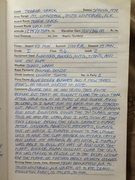 Rock Climbing Photo: My original logbook entry from the first ascent of...