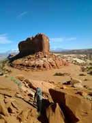 Rock Climbing Photo: Looking at the Monitor from the base of the Merrim...