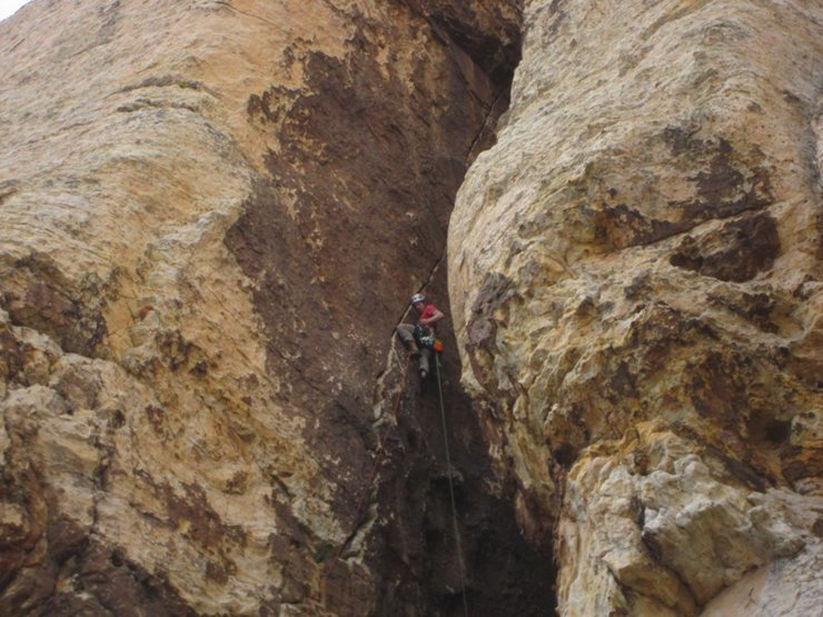 Rock Climbing Photo: Long and steep, but with good feet the entire way