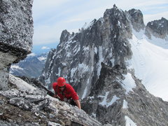 Rock Climbing Photo: Free soloing the easier pitches.