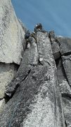 Rock Climbing Photo: Craig Hastings leading one of the eight pitches on...