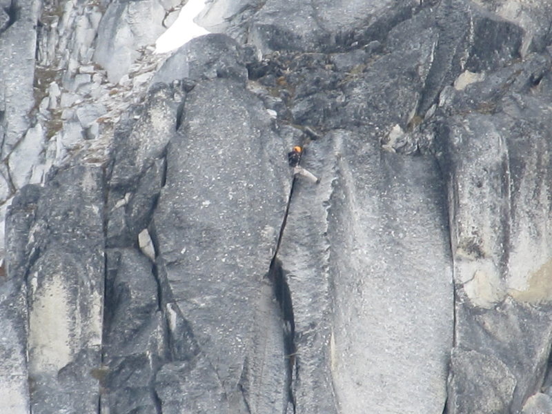 Rock Climbing Photo: Makes it out of the crack.
