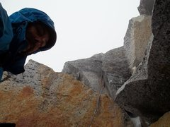 Rock Climbing Photo: Rock climbing in the rain in double plastic mounta...