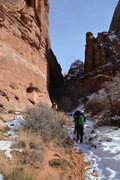 Rock Climbing Photo: Pool Arch Canyon Approach