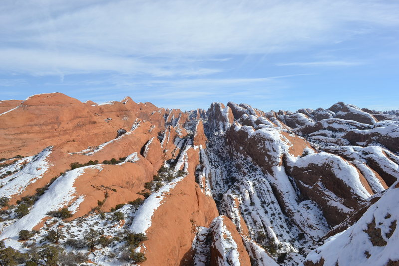Rock Climbing Photo: View from the top of the Pool Arch Canyon approach...