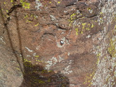 Rock Climbing Photo: The bolt with no hanger.