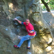 Rock Climbing Photo: Mike Arechiga on, Mr. Magoo. V0.