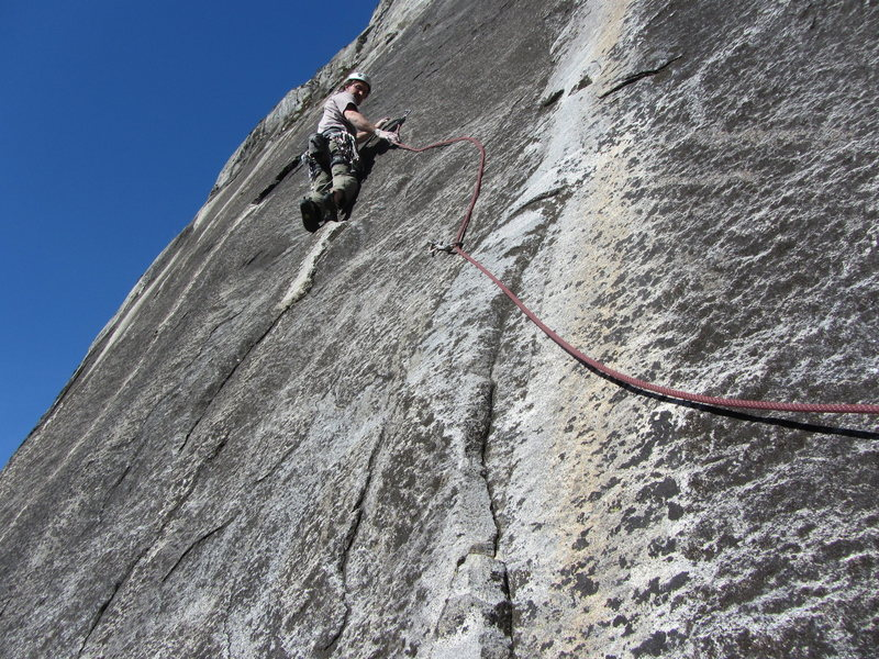 Rock Climbing Photo: Start of the 3rd Pitch if you link pitches 1&2