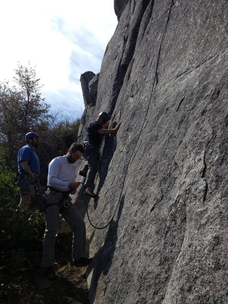Rock Climbing Photo: John starts to lead Wasp's...