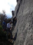 Rock Climbing Photo: John starts to lead Wasp's...