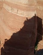 Rock Climbing Photo: Shadow climbers on the last pitch of Dr. Rubo's