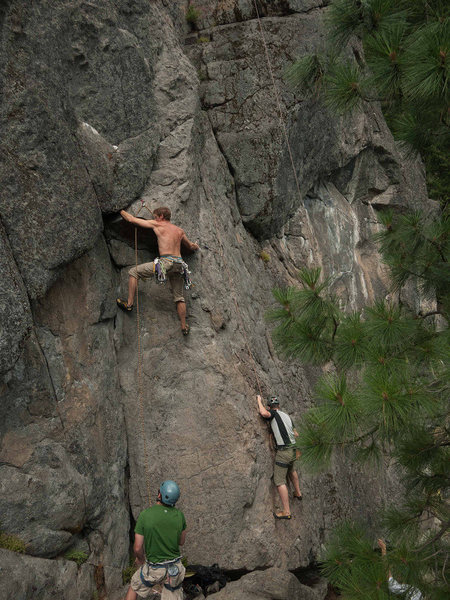 Rock Climbing Photo: Starting Old Grey Mare to access Crack of Doom for...