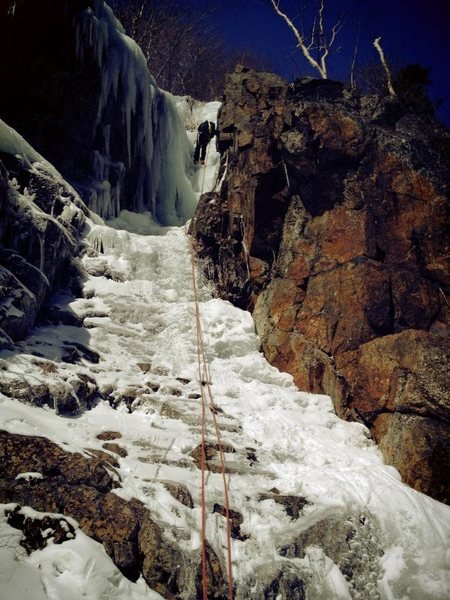 Rappelling down Trestle Gully
