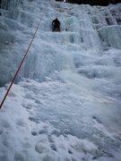 Rock Climbing Photo: Toproping this climb. Steeper and bigger than it l...