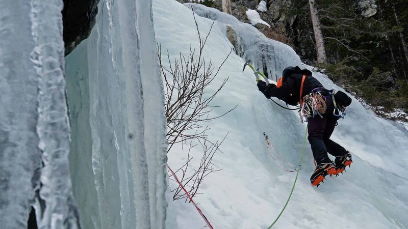 Rock Climbing Photo: Getting to the ice.