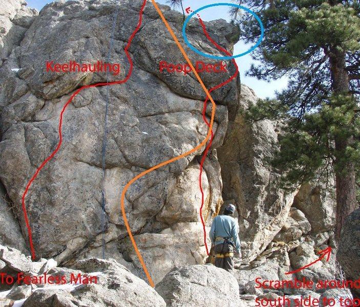 Rock Climbing Photo: Poop Deck.