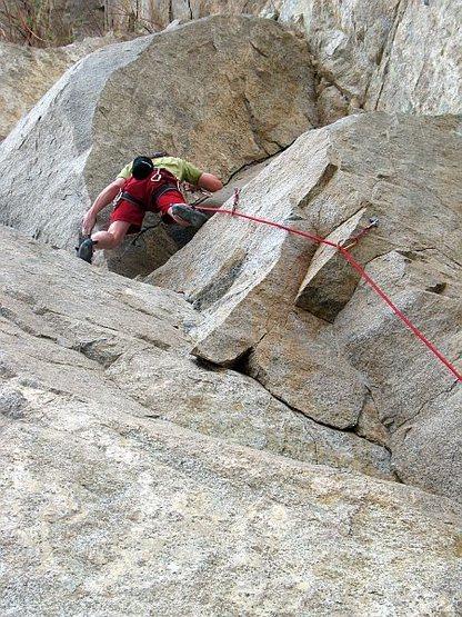 Rock Climbing Photo: Leapfrog (5.9), Riverside Quarry