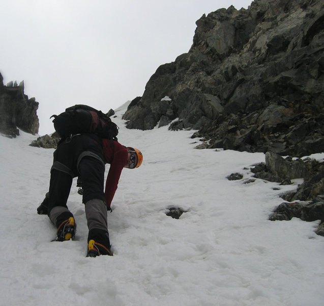My usual view of George Barnes. High up on Pacific Peak.
