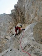 Rock Climbing Photo: The Lowdown (5.10a), Riverside Quarry
