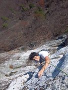 Rock Climbing Photo: P2 of MF, gunks classic