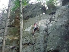 Rock Climbing Photo: Top rope at Shaffer Rock Main Wall