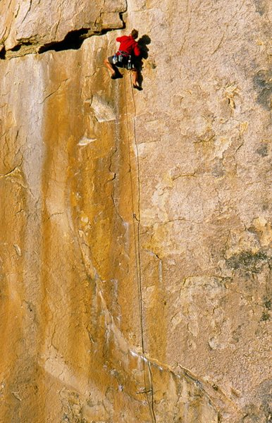 Rock Climbing Photo: the moment of truth (5.10a R)
