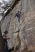 Rock Climbing Photo: Very fun crack.  A fun climb as a new trad leader.