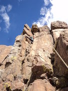 Rock Climbing Photo: Deb climbs the easier bit.