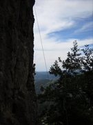 Rock Climbing Photo: Last Climb of the day - cleaning anchors on decora...