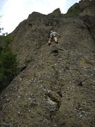 Rock Climbing Photo: That big block is a welcome rest