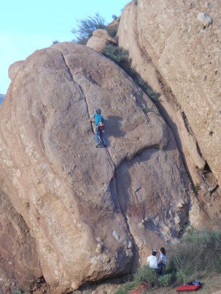 "Rock Climbing Photo: Cruising on ""Humpty Dumpty."""