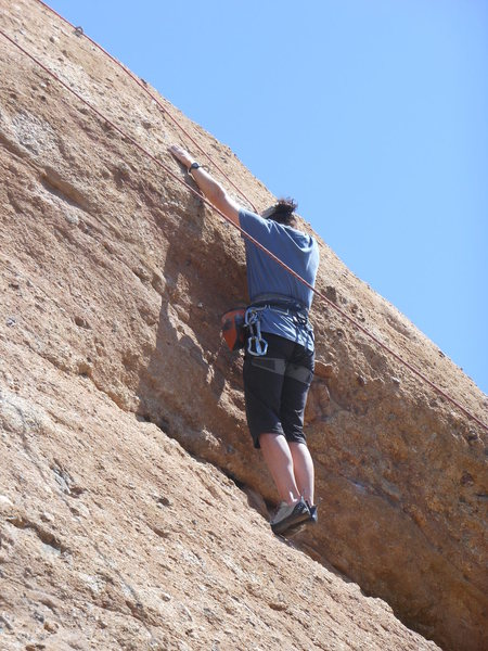 "Rock Climbing Photo: Setting up to pull the roof on ""Yellow Rose o..."