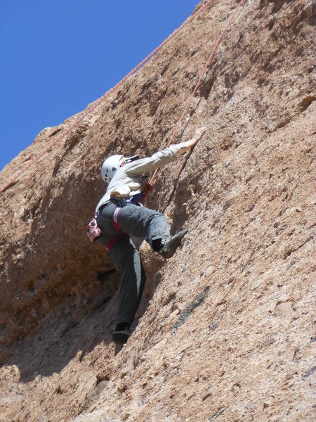 "Rock Climbing Photo: Testing the pockets on the crux of ""Aenea.&qu..."