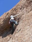 "Rock Climbing Photo: Testing the pockets on the crux of ""Aenea.&qu..."