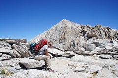 Rock Climbing Photo: Conness summit and top of west ridge, from near th...
