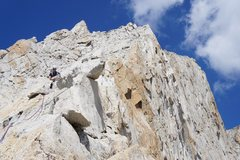 Rock Climbing Photo: higher up the west ridge,with view of the sheer fa...