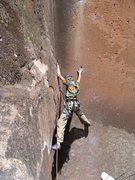 Rock Climbing Photo: A little higher up.