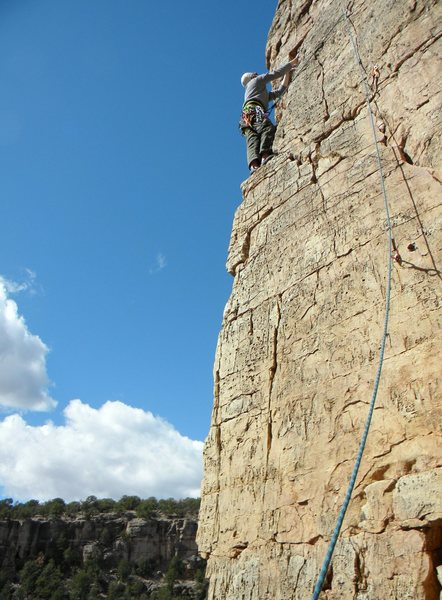 Rock Climbing Photo: Perhaps the worst route at The Bank, but one with ...