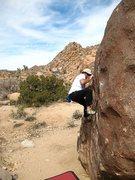 Rock Climbing Photo: Bodacious Rail (V1), Joshua Tree NP