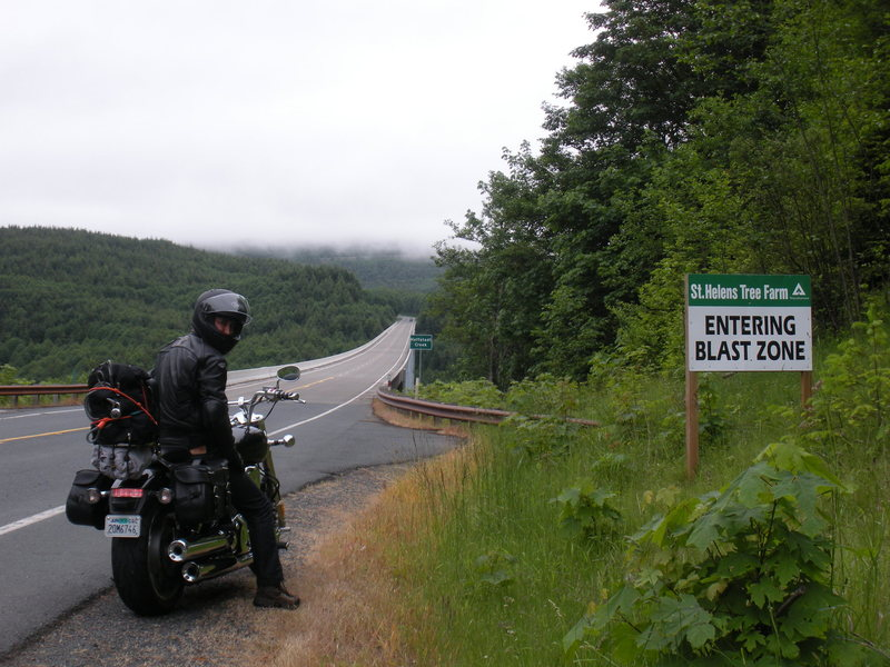 On the way to Mt. St. Helens .<br> <br> In the blast zone ! as they say ...