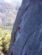 Rock Climbing Photo: Mike Arechiga on, The Dominion. 5.10a.