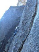 Rock Climbing Photo: Mike Arechiga on, Blue Velvet. 5.10c.