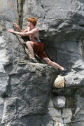 Rock Climbing Photo: Negotiate a funky start