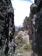 Rock Climbing Photo: Cool slot up on Eagle Cliff Mountain